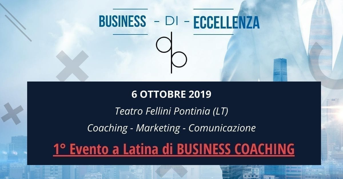 Evento Business Eccellenza a Pontinia Davide Paccassoni Mental Coach